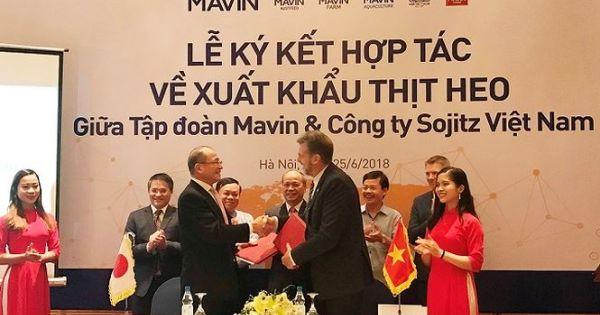 Lần đầu tiên thịt lợn tươi Việt Nam được xuất khẩu ra nước ngoài