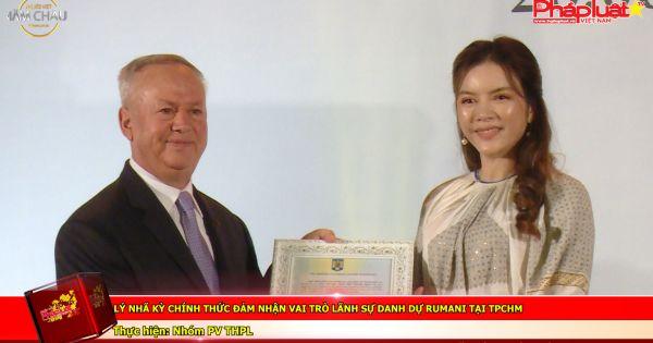 Lý Nhã Kỳ chính thức đảm nhận vai trò lãnh sự danh dự Rumani tại TPHCM