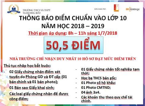 Sở GD-ĐT Hà Nội yêu cầu trường THCS – THPT Tạ Quang Bửu chấn chỉnh trong công tác tuyển sinh