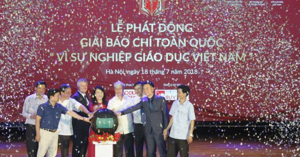 """Giải báo chí toàn quốc """"Vì sự nghiệp giáo dục Việt Nam"""" sắp phát động"""