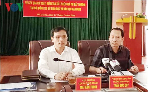 Vụ nâng điểm thi ở Hà Giang: Cần thanh tra các địa phương khác