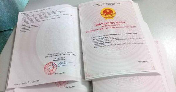 """Thái Bình: Hơn 70.000 hộ dân """"chê"""" sổ đỏ"""