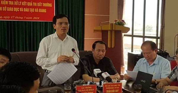 Khởi tố vụ án gian lận điểm thi tại Hà Giang