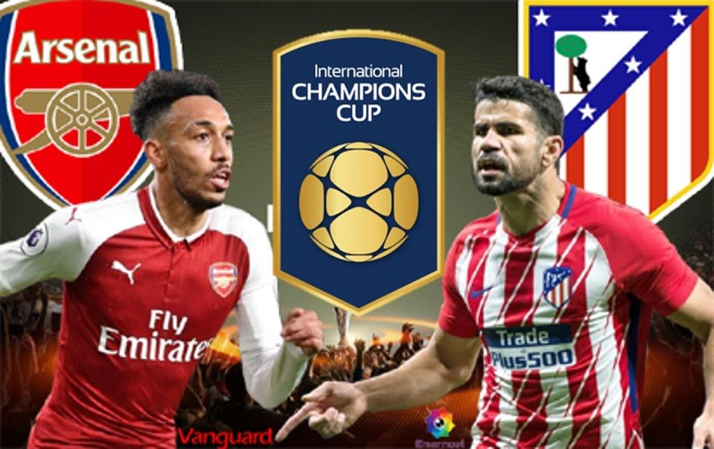 Cúp ICC 2018: Atletico Madrid vượt qua Arsenal trong loạt luân lưu