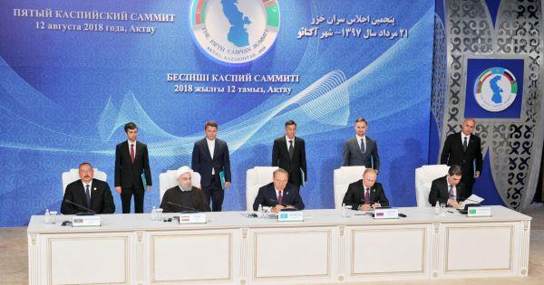 Các nước ký kết công ước về Biển Caspi
