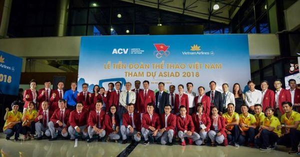 Lễ tiễn đoàn Thể thao Việt Nam tham dự ASIAD 2018