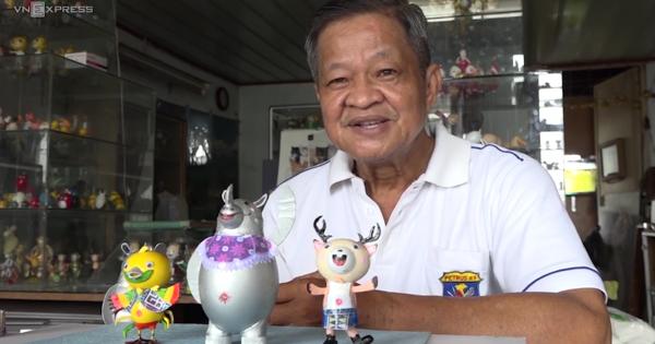 Nghệ nhân ở Sài Gòn làm bộ linh vật ASIAD bằng vỏ trứng