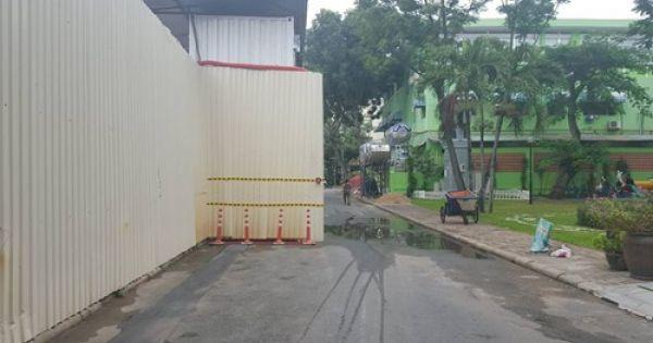 """Dự án H6-3- APARTMENT BUILDING """"nuốt trọn"""" vỉa hè của nhiều đoạn đường"""