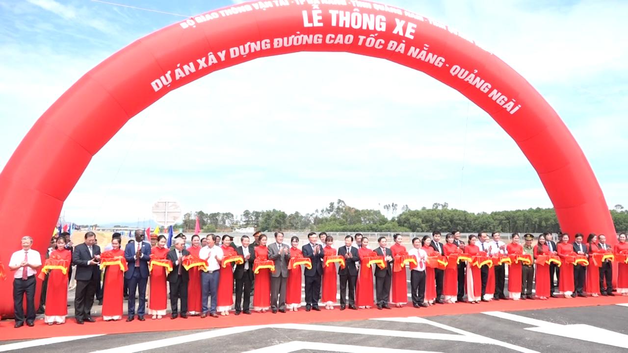 Thông xe tuyến cao tốc Đà nẵng – Quảng ngãi