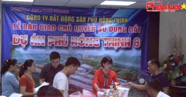 Dự án Phú Hồng Thịnh trao sổ hồng sớm cho khách hàng.