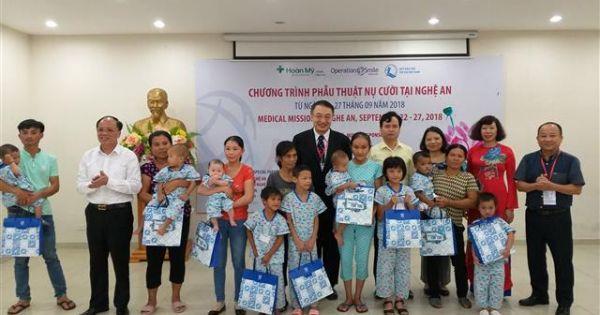 Nghệ An: Gần 100 trẻ khuyết tật được phẫu thuật nụ cười miễn phí