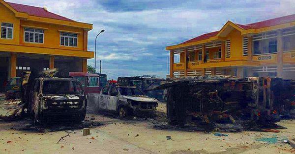 Truy tố các đối tượng gây rối, đập phá trụ sở UBND tỉnh Bình Thuận