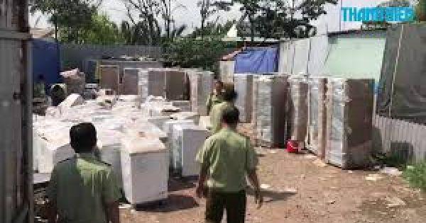 Thu giữ lô hàng điện lạnh, điện tử cũ cấm nhập khẩu
