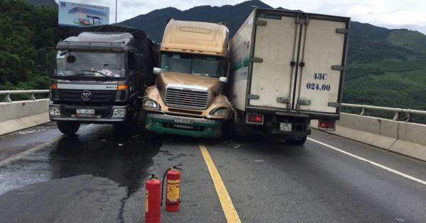 Cận cảnh những vụ tai nạn giao thông liên hoàn trên Quốc lộ
