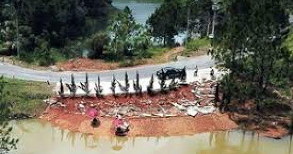 Đà Lạt: Khu du lịch hồ Tuyền Lâm bị băm nát
