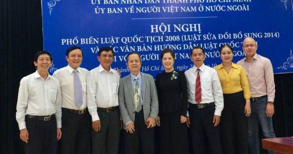 TP HCM: Phổ biến Luật Quốc tịch 2008 cho hơn 120 kiều bào nước ngoài