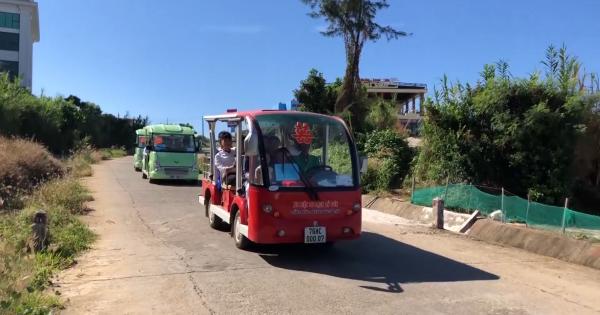 Ô tô điện thân thiện môi trường ở đảo Lý Sơn