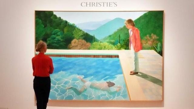 Bức vẽ hai người bên bể bơi có giá kỷ lục 2.000 tỷ đồng