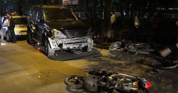 Lexus gây tai nạn liên hoàn: Nữ tài xế có nồng độ cồn cao
