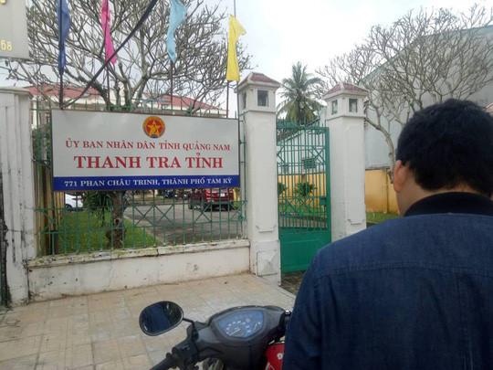 Phó chánh Thanh tra tỉnh Quảng Nam tử vong sau trụ sở
