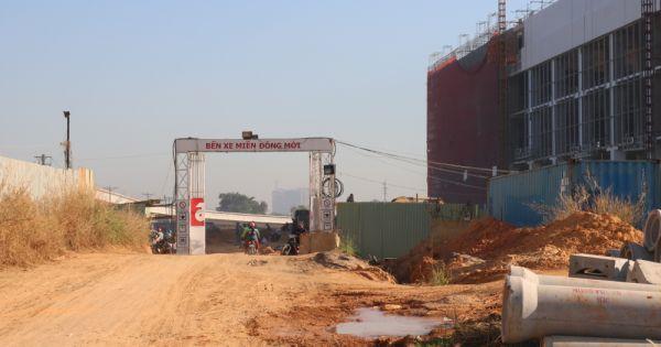 Cận cảnh dự án Bến xe Miền Đông chậm tiến độ ở TP.HCM