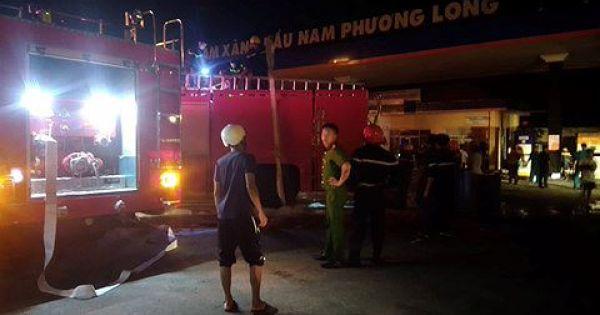 Cháy dữ dội tại cây xăng ở Xuân Lộc, Đồng Nai