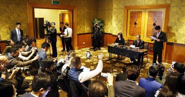 Triều Tiên bất ngờ tổ chức họp báo lúc nửa đêm về Hội nghị thượng đỉnh Mỹ-Triều