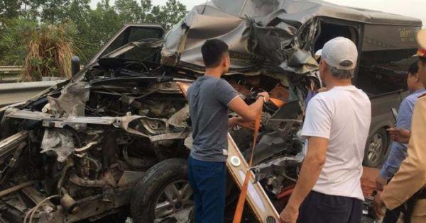 Xe khách Limousine gặp nạn trên cao tốc, 1 bác sĩ và 1 công an tử vong