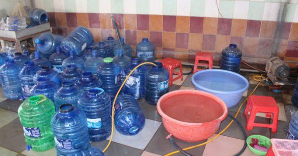 Bà Rịa – Vũng Tàu: Kinh hãi công nghệ sản xuất nước uống đóng chai