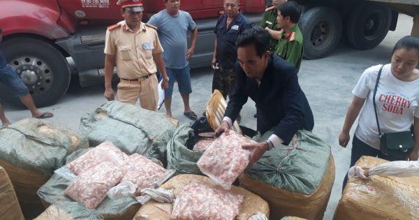 Thừa Thiên - Huế: Bắt giữ 1,5 tấn sụn gà không rõ nguồn gốc