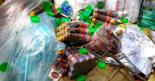 Đắk Nông: Tiêu hủy gần 12.000 sản phẩm phụ gia thực phẩm bẩn, không rõ nguồn gốc.
