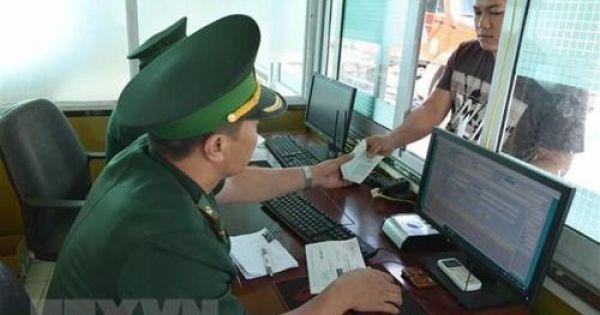 Thủ tục biên phòng điện tử trong cấp thị thực