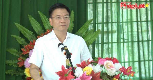 Kiên Giang: Bộ trưởng Bộ Tư Pháp tiếp xúc cử tri xã Đông Hưng A