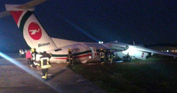 11 người bị thương trong vụ máy bay Bangladesh lệch đường băng