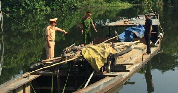 Thừa Thiên - Huế: Liên tục phát hiện việc khai thác cát trái phép trên các sông