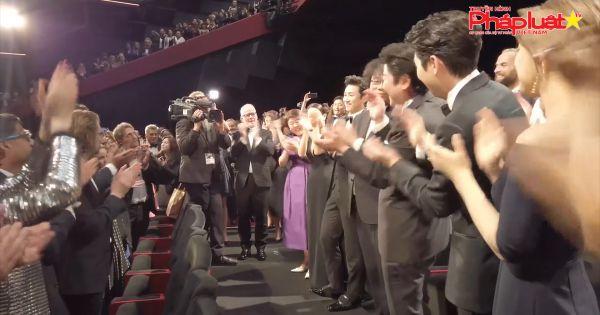 Ký Sinh Trùng nhận được tràng pháo tay dài 8 phút tại liên hoan phim Cannes