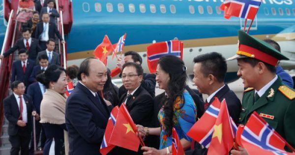 Thủ tướng bắt đầu thăm chính thức Na Uy