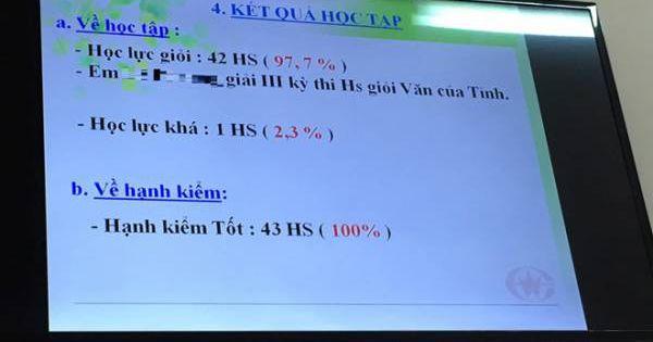 Vũng Tàu: Thẩm định lớp học có 42/43 học sinh giỏi