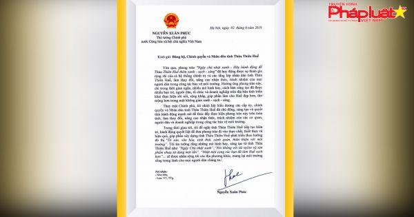 Thủ tướng Chính phủ gửi thư biểu dương tinh thần người dân Huế về bảo vệ môi trường