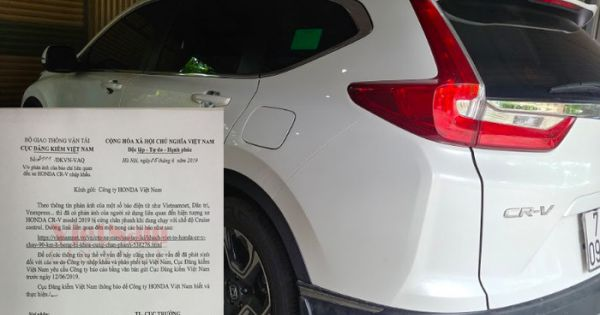 Cục Đăng kiểm Việt Nam yêu cầu Honda giải trình vụ xe CR-V bị lỗi phanh