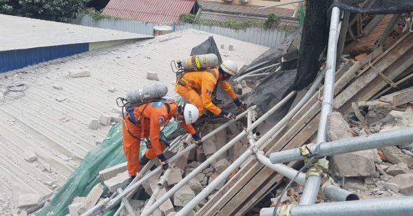 Sập building cao tầng ở Campuchia, nhiều người thương vong