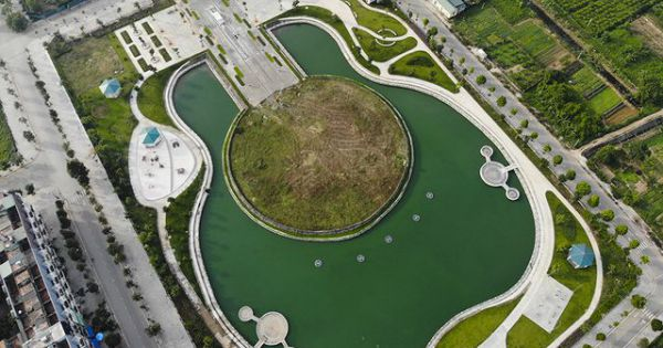 Hà Nội: Công viên hình chiếc đàn rộng gần 6ha sắp hoạt động