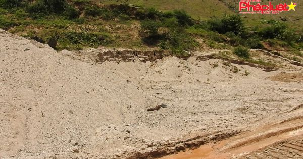Lợi dụng xây thủy điện ALin B1 để khai thác cát lậu
