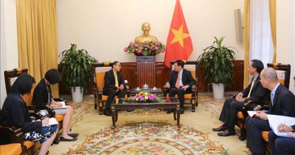 Phó Thủ tướng Phạm Bình Minh tiếp Đại sứ Thái Lan