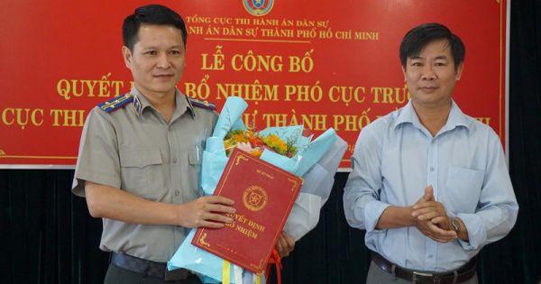 Ông Nguyễn Văn Hòa giữ chức vụ Phó Cục trưởng Cục Thi hành án dân sự TPHCM