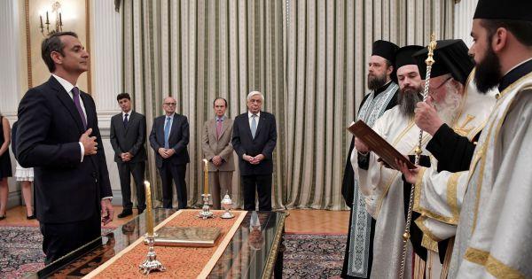 Thủ tướng Hy Lạp Kyriakos Mitsotakis tuyên thệ nhậm chức