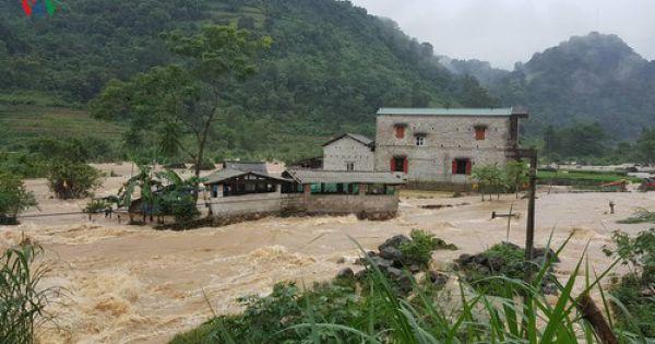 Cao Bằng mưa lớn gây ngập hơn 900 ngôi nhà, 1.000 ha lúa và hoa màu