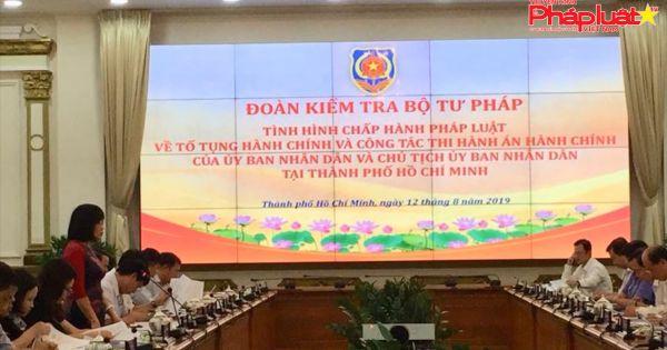 Thứ trưởng Đặng Hoàng Oanh kiểm tra công tác thi hành án hành chính tại TP HCM