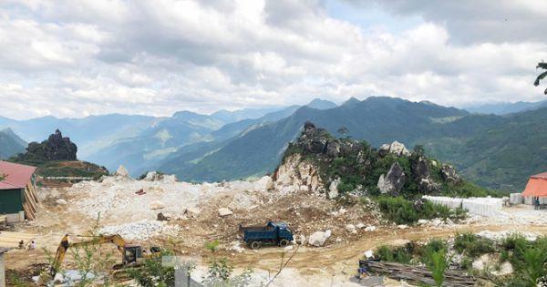 Cận cảnh công trường khai thác đá trái phép ở khu du lịch Sa Pa