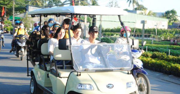 Ninh Thuận: Đưa xe điện phục vụ tham quan du lịch tại thành phố Phan Rang
